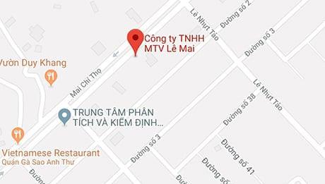 Bản đồ Công ty TNHH MTV Lê Mai